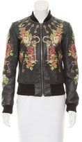 Dolce & Gabbana Printed Leather Jacket
