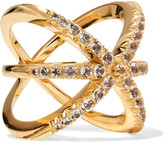 Elizabeth and James Vida gold-plated crystal ring