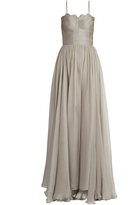 Maria Lucia Hohan Marianne laced-back silk gown