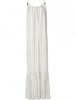 Saloni blurred stripe maxi dress