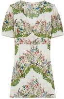 Maje Riviere Floral Silk Mini Dress
