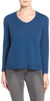 Eileen Fisher Boxy Wool V-Neck Pullover
