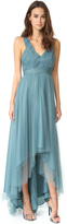 Monique Lhuillier Bridesmaids Tulle High Low Gown