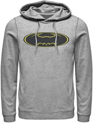 Dc Comics Men's DC Comics Batman Yellow Line Chest Logo Hoodie