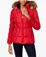 Calvin Klein Petite Faux-Fur-Lined Quilted Puffer Coat