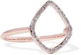 Monica Vinader Riva Rose Gold Vermeil Diamond Ring - P