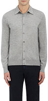Luciano Barbera Men's Cashmere-Silk Spread Collar Cardigan