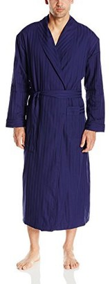 Majestic International Men's Get The Blues Terry Lined Shawl Robe