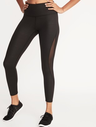 Old Navy High-Waisted Elevate 7/8-Length Mesh-Splice Compression Leggings For Women