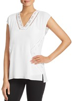 Daniel Rainn Lace Detail Top