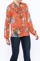Moon Collection Orange Floral Blouse