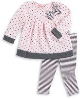 Nannette Baby Girls Polka Dot Top and Striped Leggings Set