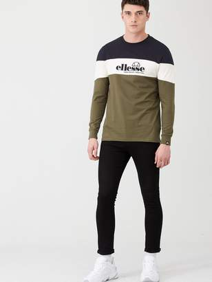 Ellesse Fermo Long Sleeve T-Shirt - Khaki