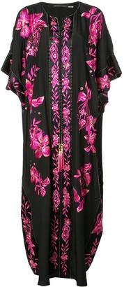Josie Natori Couture floral embroidered kaftan