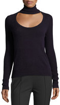 Diane von Furstenberg Gracey Cutout Turtleneck Sweater, Royal Navy