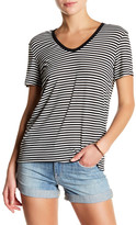 Genetic Los Angeles Alex V-Neck Black and White Striped Tee