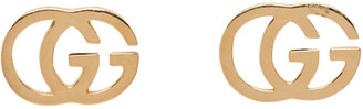 Gucci Gold GG Tissue Stud Earrings