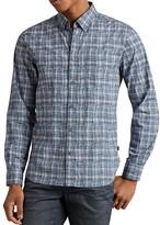 John Varvatos Mitchell Plaid Slim Fit Button-Down Shirt