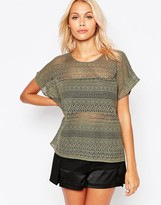 B.young Short Sleeve Lace Top