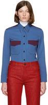 Calvin Klein Blue Wool Twill Shirt
