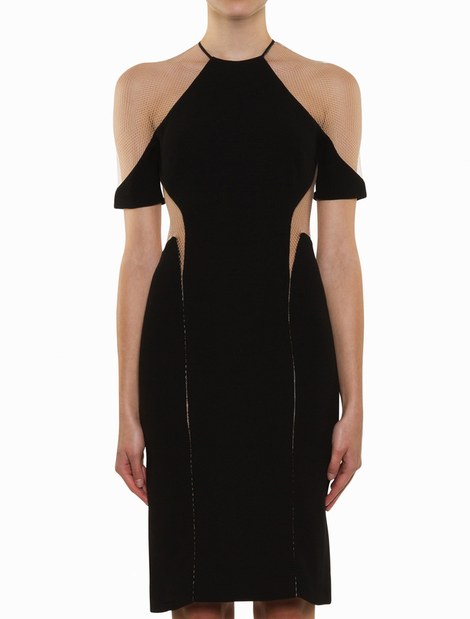 Dion Lee Suspended Dress With Sleeve- Black
