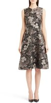 Dolce & Gabbana Metallic Floral Jacquard A-Line Dress