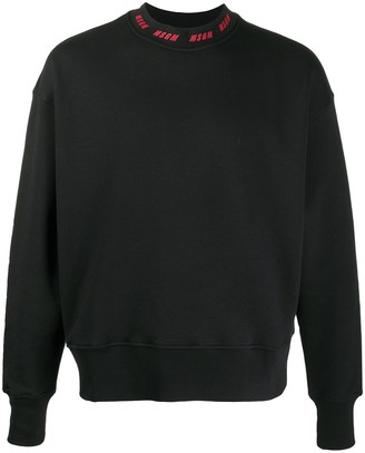 MSGM Logo Neck Sweater
