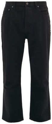 Valentino Cropped Rockstud-embellished Jeans - Black