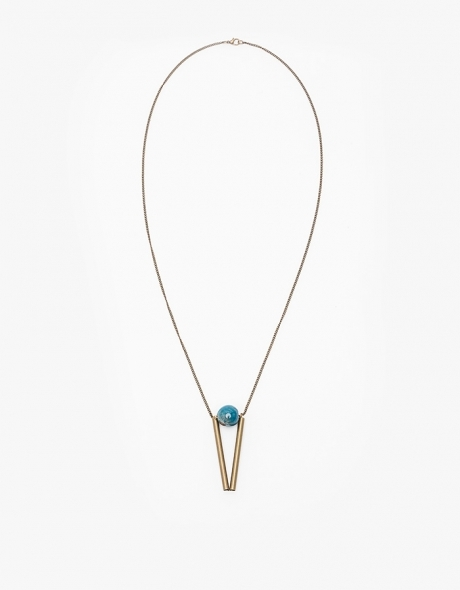 Satellite Triangle Necklace