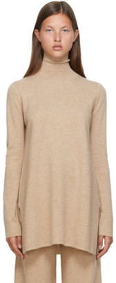 Max Mara Beige Wool and Cashmere Meteora Turtleneck