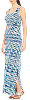 Tommy Bahama Dot Matrix Maxi Dress