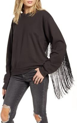 Levi's Ashley Fringe Trim Cotton Sweatshirt