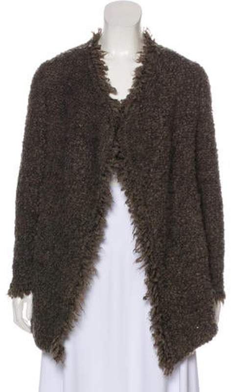 IRO Textured Knit Cardigan Brown Textured Knit Cardigan