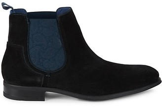 Ted Baker Printed Side Panel Ankle Boots