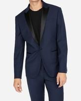 Express Slim Navy Wool-Blend Performance Stretch Tuxedo Jacket