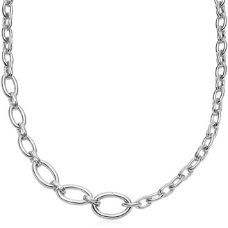 Missoma Silver Large Graduated Oval Chain Necklace