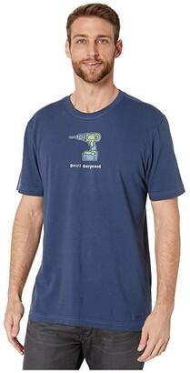 Life is Good Drill Sergeant Crushertm Tee (Darkest Blue) Men's T Shirt