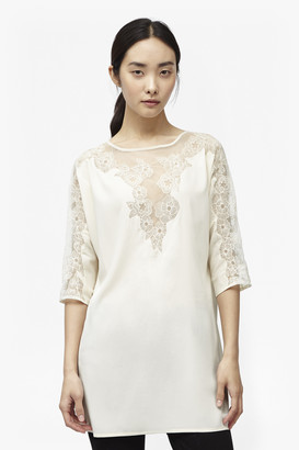 French Connection Isla Embroidered Tunic