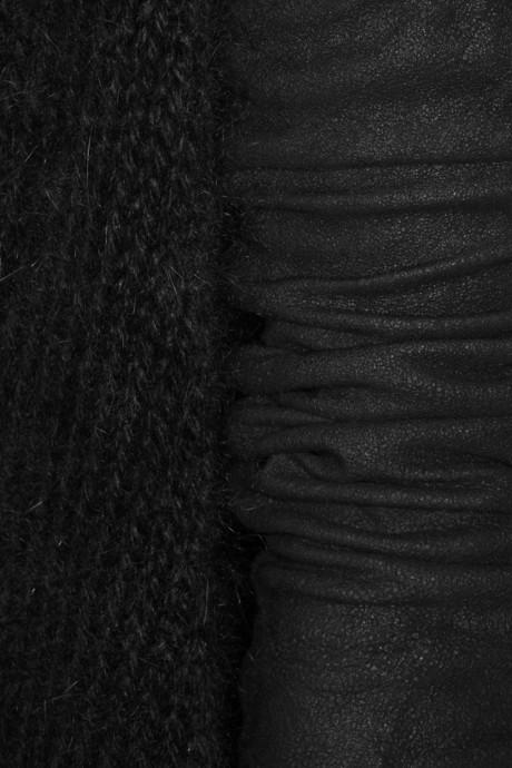 Rick Owens Alpaca-blend and leather cardigan