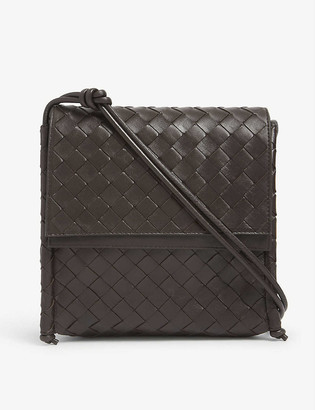 Bottega Veneta Small Fold intrecciato leather cross-body bag