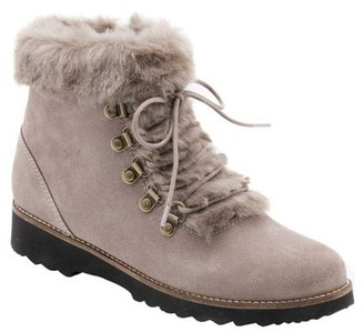 Blondo Rachel Waterproof Suede Faux Fur Lined Lace Up Hiker Boots (Women's)