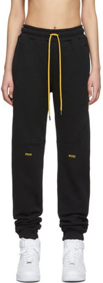 Pyer Moss Black College Slouch Lounge Pants