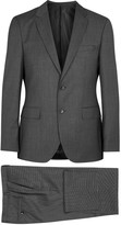 Boss Johnstons1/lenon Charcoal Wool Suit