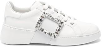 Roger Vivier Viv Skate Crystal Embellished-buckle Trainers - White
