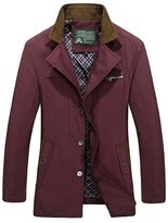 HengJia Men's Casual Fashion Cotton Jacket Coat Slim Fit Trench Coat Medium