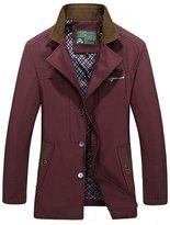 HengJia Men's Casual Fashion Cotton Jacket Coat Slim Fit Trench Coat XX-Large