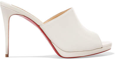 Christian Louboutin Pigamule Leather Mules - White