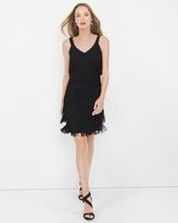 White House Black Market Black Fringe Dress