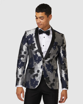 Jack London - Men's Navy Blazers - Floral Cocktail Jacket - Size One Size, 46 at The Iconic