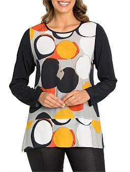 Marc O'Polo Marco Polo Long Sleeve Bold Spot Top